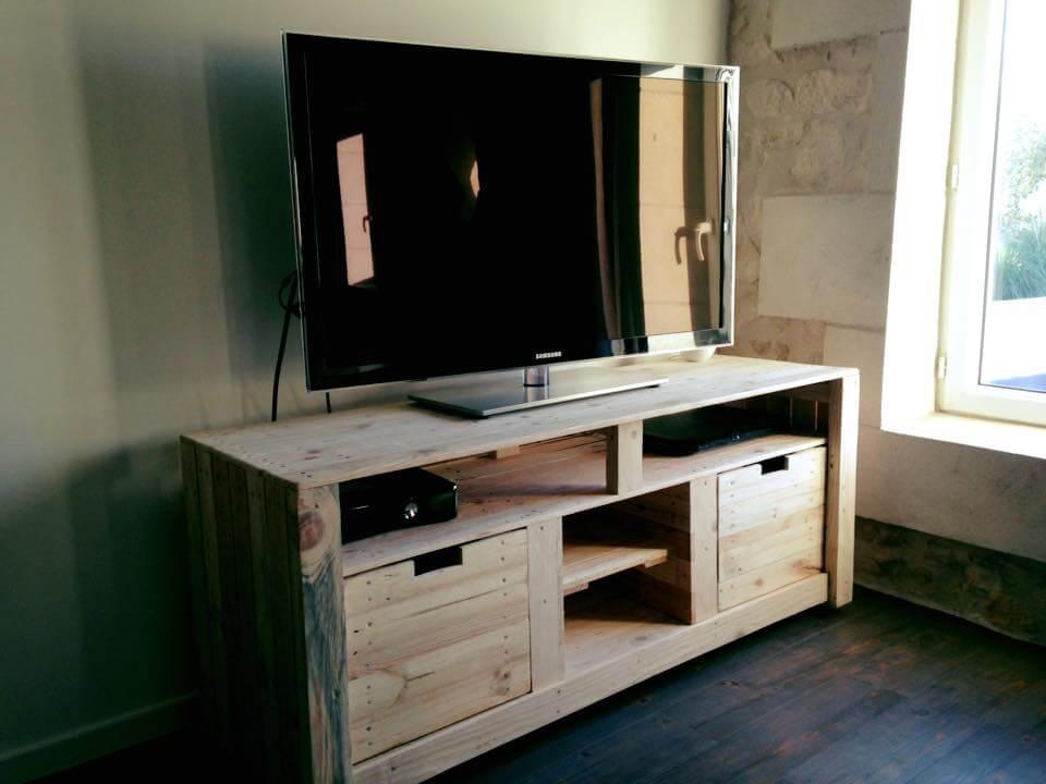 meuble télé en palette