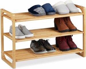 meuble à chaussures en bambou