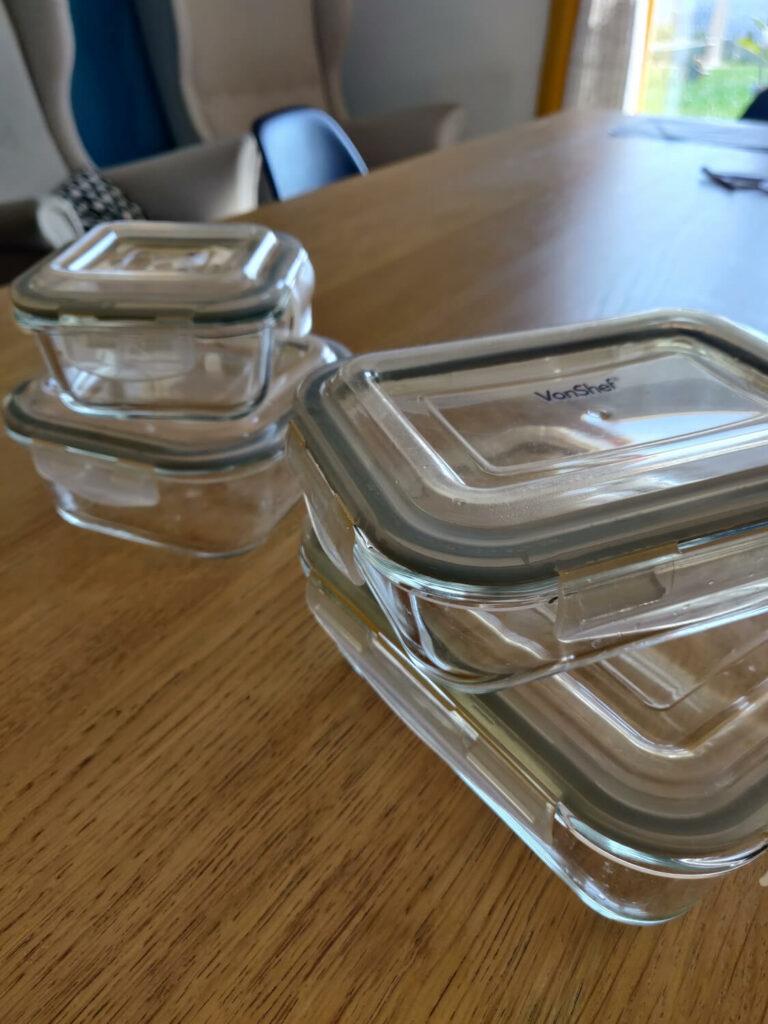 boîtes de conservation en verre