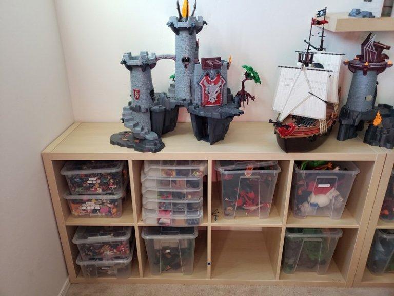 rangement astucieux playmobils